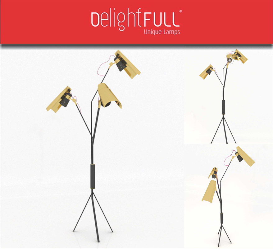 3D model jackson floor lamp delightfull
