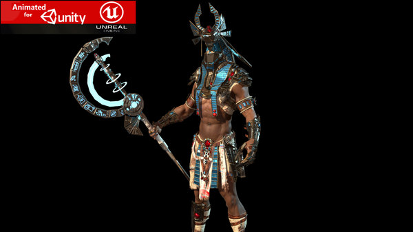 anubis warrior character 3D model