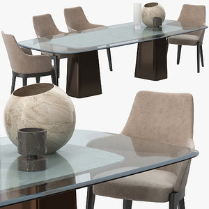 molteni mayfair table chelsea 3D model