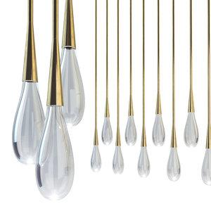 pour lights haus 3D model