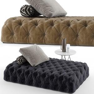 desiree rollking sofa set 3D model