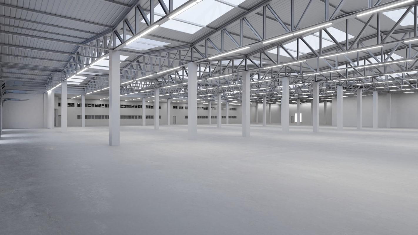 3D industrial building interior 2 model