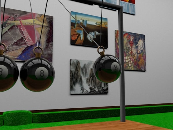 newton pendulo 3D