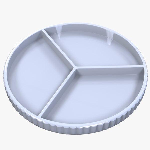 peace symbol plate 3D model