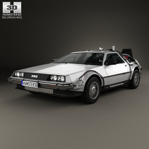 3D delorean dmc-12 dmc