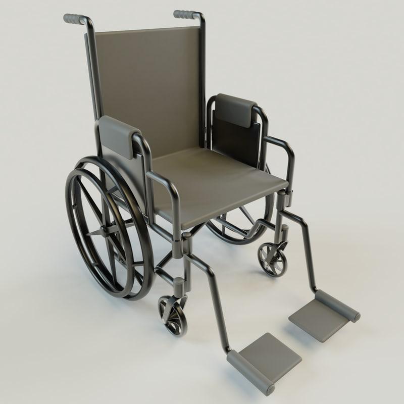 3D wheelchair materials model