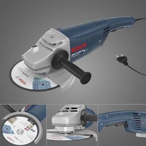 3D model angle grinder bosch gws22-230