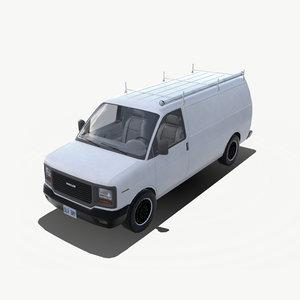modern delivery van 3D model