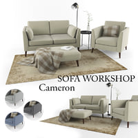 set sofa workshop cameron 3D