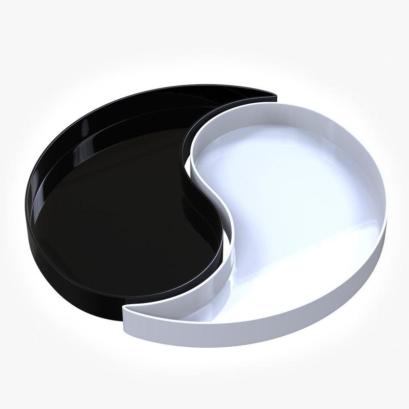 3D model yin yan tray
