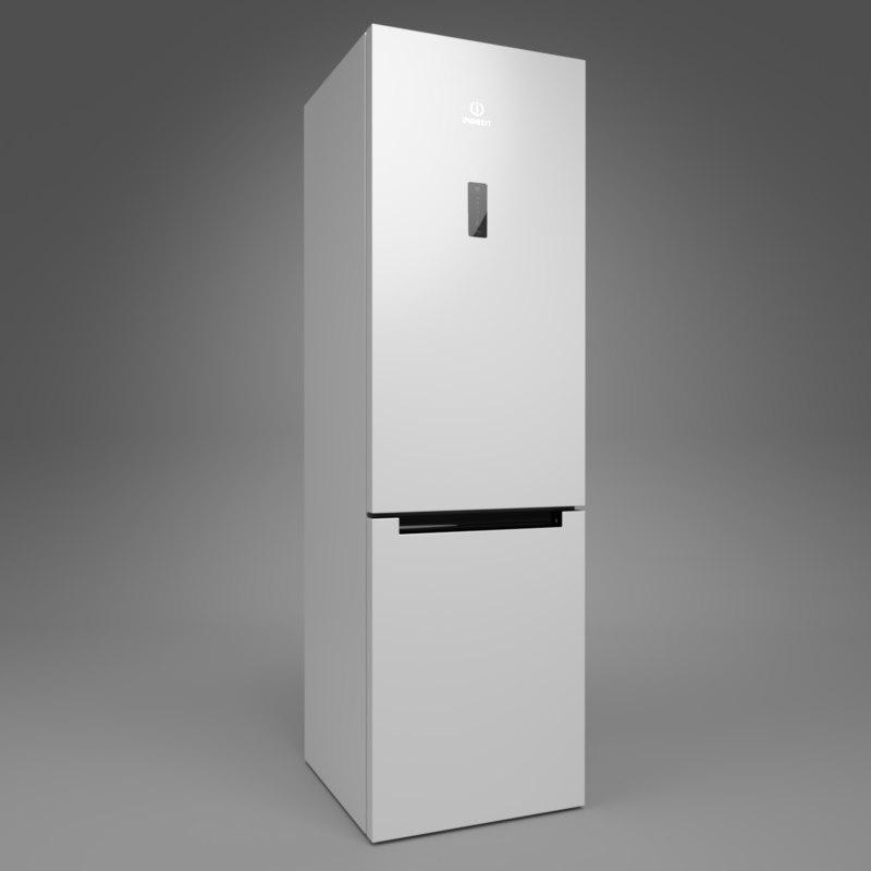 3D model interior indesit fridge df