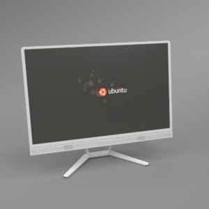 interior lenovo lcd monitor 3D model