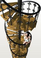 3D p c k spiral stairs