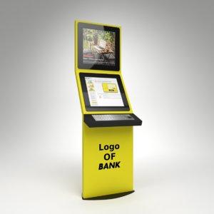 3D interior bank terminal internet model