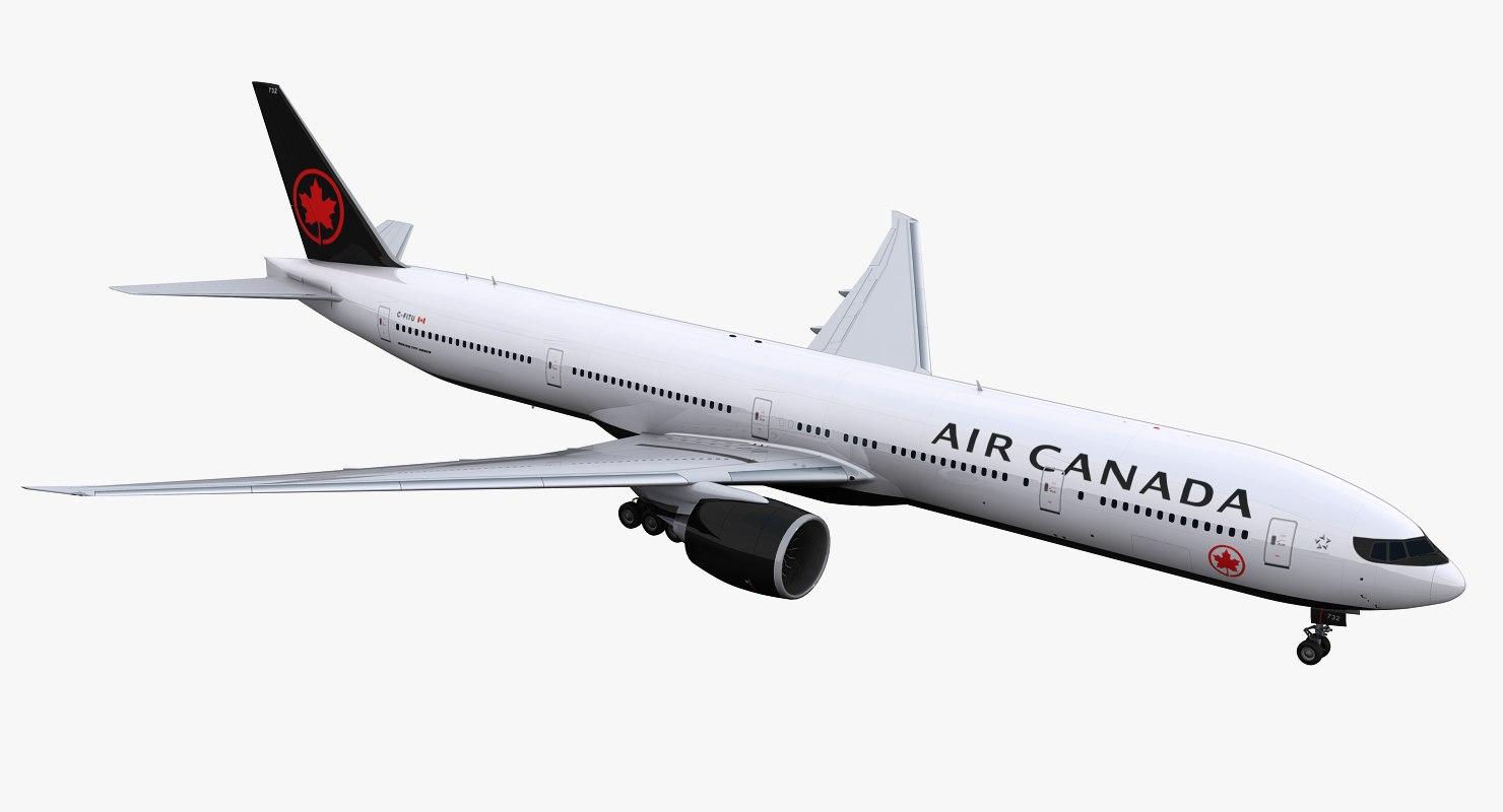 777-300 air canada 3D model