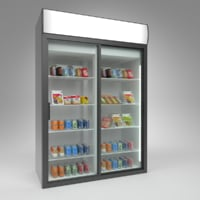 3D model interior polair cold store