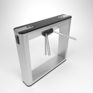 3D interior turnstile gate ttd-03 model