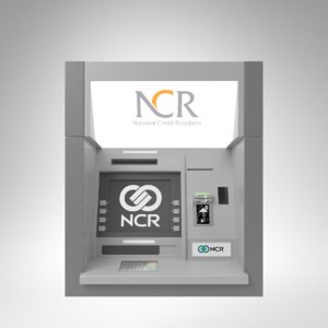 3D interior ncr throughwall atm machine