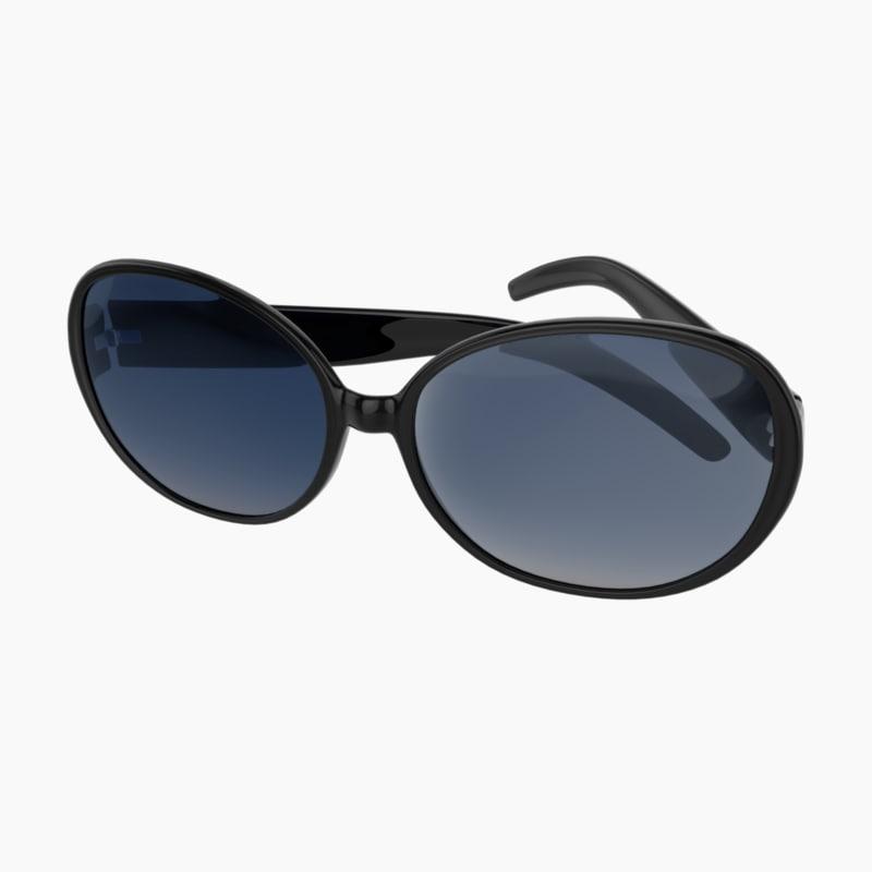 3D sun glasses sunglasses model