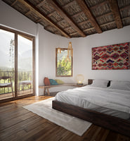 mountain bed bedroom 3D
