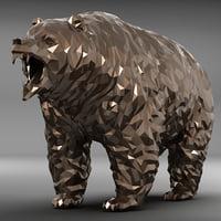 3D model bear zbrush