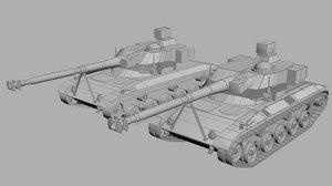 sk-105 light armor tank model