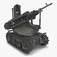 unmanned battle tank rigged 3D model