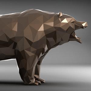 bear polygonal 2 3D model