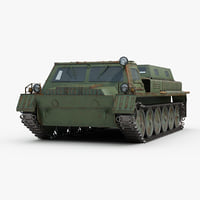 3D model soviet gaz 71 transporter