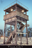 watch tower army 3D model