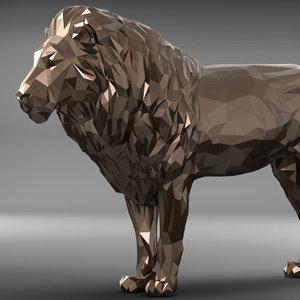 lion polygonal model