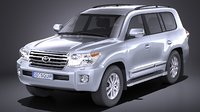 3D toyota landcruiser land