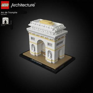 paris lego arc triomphe 3D