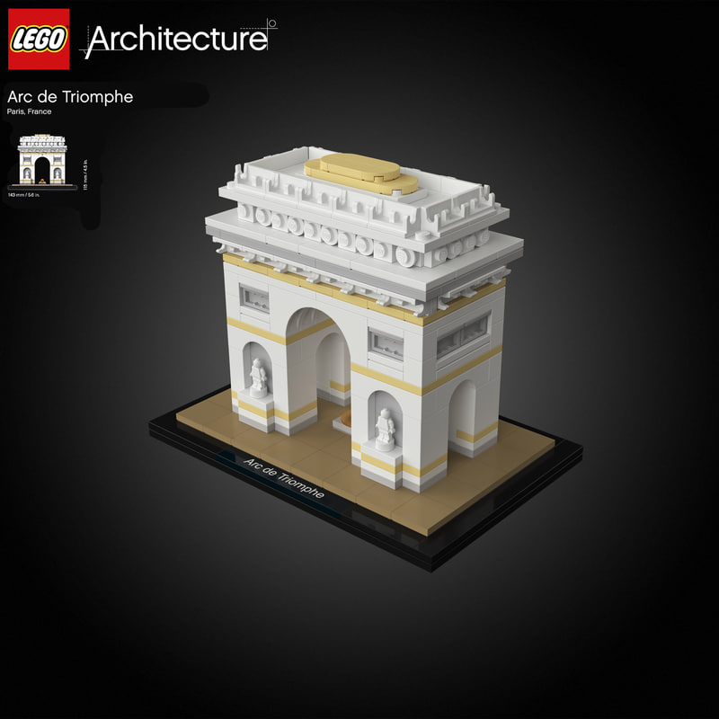 paris lego arc triomphe 3D