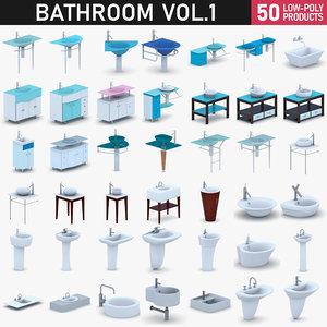 - bathroom 3D model