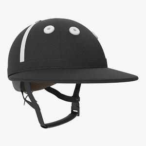 polo helmet black fabric model