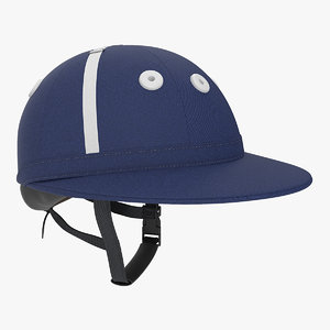 polo helmet navy blue 3D model