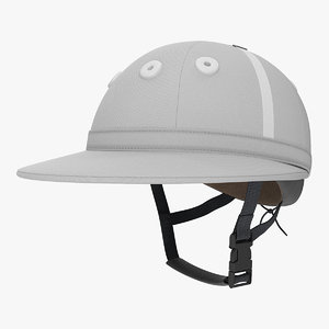 polo helmet white 3D model