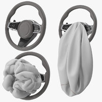 Steering Wheel with Airbag Animated
