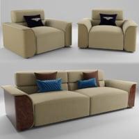 PORTOBELLO sofa & armchairs 3D model
