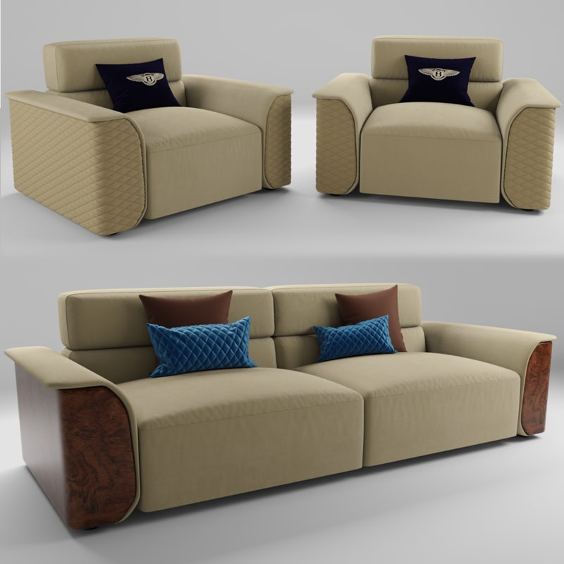3D portobello sofa chair model