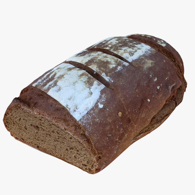 scan bread 3D