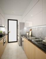 3D apartment kitchenroom kitchen