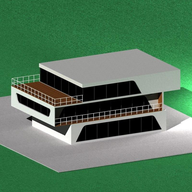 3D high-tech house