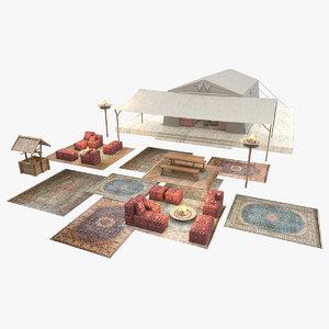safari tent 3D model