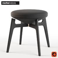 3D u-turn stool