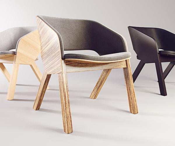 3D merano lounge model