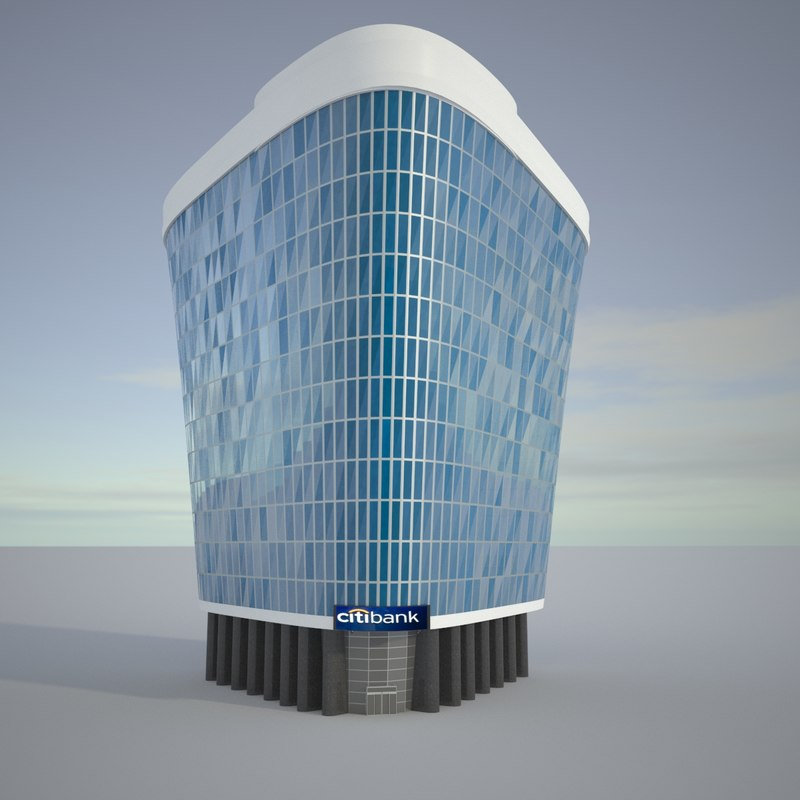 realistic bank 3D