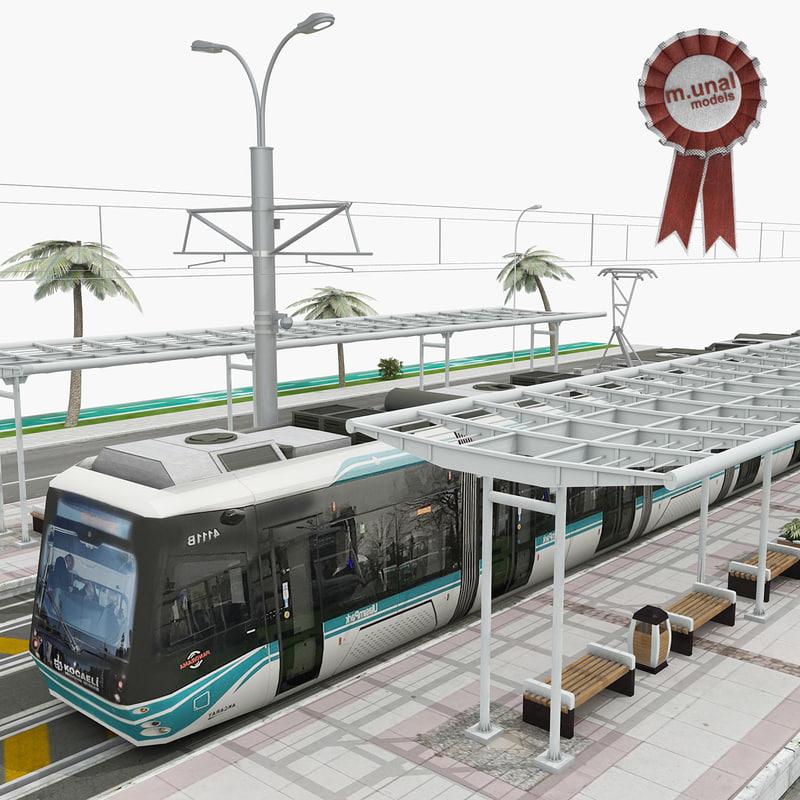 tram way 3D model