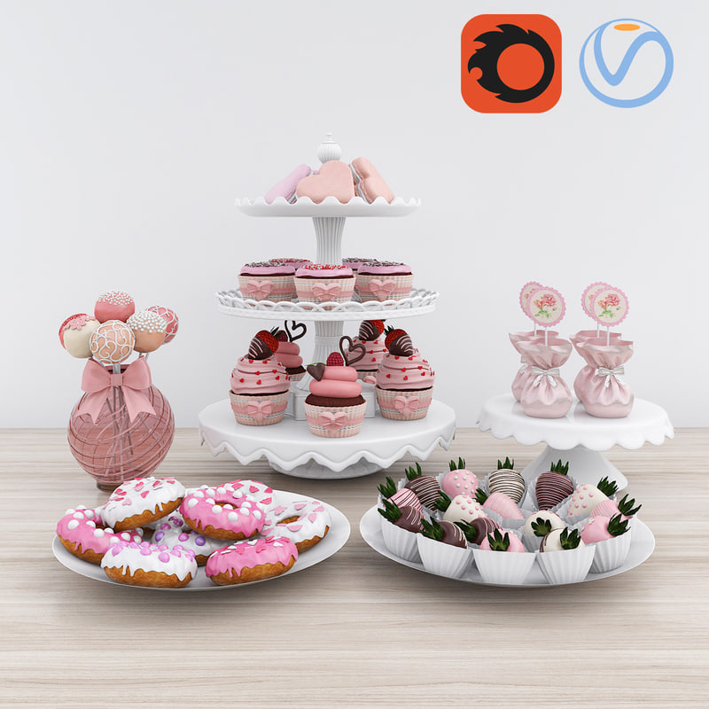 3D candy decor set
